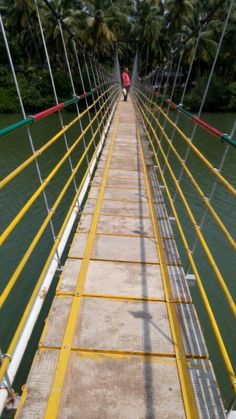 Hanging bridge.  Kemmannu