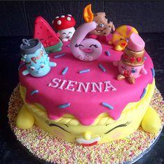 Super cute Shopkins themed Birthday Cake.