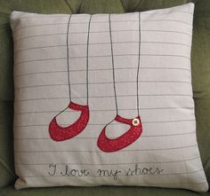 I love my shoes cushion cover