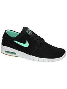 779b713d7e Nike Mens Stefan Janoski Max L BlackGreen GlowWhite Skate Shoe 11 Men US   gt  gt