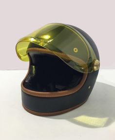 Designed in London, Hedon create hand crafted luxury motorcycle helmets. Shop our range of open face and full face helmets or build you own with our helmet builder. Retro Motorcycle Helmets, Riding Helmets, Bmx, Motocross, Cafe Racer Helmet, Vintage Cafe Racer, Motorbikes, Retro Vintage, Motorcycles