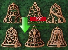 Brand New! 48-SLDK223 - Filigree Bell Ornaments Scrollsaw Pattern Downloadable PDF