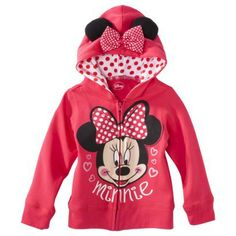 Disney® Infant Toddler Girls' Minnie Mouse Hoodie - Pink