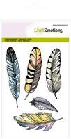 Craft Emotions A6 Clear Stamps - Feathers - 1253 - Cardmaking - Scrapbooking