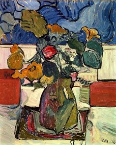 68d7dd0d2 Cuno Amiet Still- life with Flowers, 1908 Oil on Canvas - 40 x 32 cm  Berlin, Brücke Museum. Weronika Sabina · martwa natura