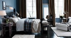 ikea-schlafzimmer-design-dekoration-schick-gemuetlich-braun-blau-dielenboden