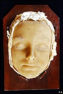 Mary Queen of Scots' death mask. She was actually quite sweet looking. nothing like those stern portraits. Such a calm composed face, considering her head has just been separated from her body.