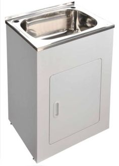 Laundry Cabinet 45L  600X500X882 (45L)  Avaliable with Adjustable Legs  Brand New ($199)  ** Jump onto our website - www.tttdirect.com.au - OR come into our show room 153 Old Pacific Highway Oxenford QLD to browse our full range of Bathroom supplies,Kitchen supplies,and Laundry supplies,We have tiles and wooden flooring, blinds and many more, we are a one stop shop **