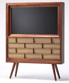 OOOOO!!!!!!  I SO SO SO SO SO SO NEEEEEEEEEEEDDDDD THIS!!!!!!!Mid-Century Modern console for your new flat screen.