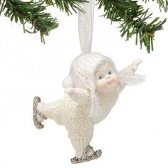 Snowbabies - Dream - Love To Skate Ornament
