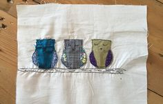 Owls free motion embroidered                                                                                                                                                                                 More