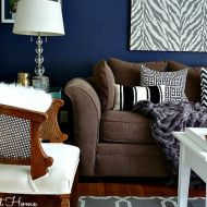 Valspar Mystified navy living room | Involving Color Paint Color Blog