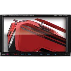 Boss Audio BV9755 Double-DIN 7 inch Motorized Touchscreen DVD Player