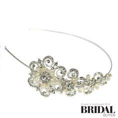 Linzi Jay Scroll Pearl and Diamante Side band Bridal Gowns, Wedding Dresses, Designer Wedding Gowns, Wedding Bride, Jay, Sparkle, Pearls, Bracelets, Inspire