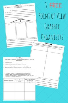 3 Free, Reusable Graphic Organizers to use with your 3rd grade or 4th grade students when teaching point of view.  Geared towards teaching point of view within fiction and nonfiction.