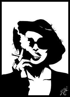 marla singer - Google Search Fight Club Marla, Fight Club 1999, Stencils, Stencil Art, Marla Singer, Hollywood Poster, Street Art, Smoke Art, Portrait Inspiration