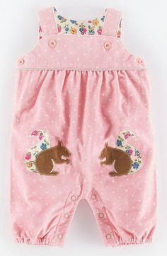 Free shipping and returns on Mini Boden Appliqué Corduroy Dungarees (Baby Girls) at Nordstrom.com. Cute critter-shaped patches add pizzazz to classic cotton overalls with lots of gathers and a roomy fit for comfortable play.