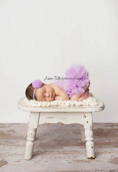 Lavender Newborn Tutu Dress Photography Props by TheDamaskBaby