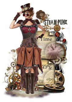 """Steampunk Doll"" by nansg ❤ liked on Polyvore featuring art"