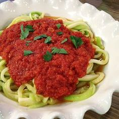 Zucchini Linguine. The easiest and most delicious zucchini and tomato sauce recipe from joybauer.com .