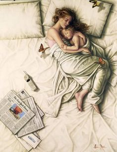 Co-sleeping is a wonderful thing. Give baby that special time with mommy and deepen the bond. Love this pic.