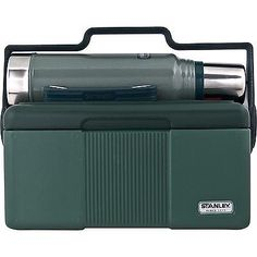 Insulated Lunchbox Cooler Heritage Vacuum Bottle Classic Combo Green Thermos Box