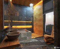 Дом по Рублево-Успенскому шоссе : Ванные комнаты в Эклектичный. Автор - GM-interior