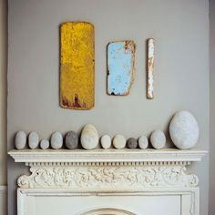Stone Display on the Mantel, Remodelista