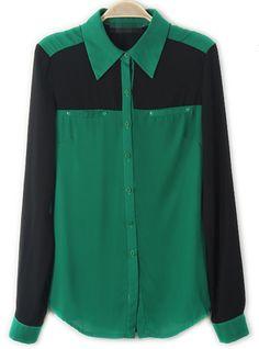 Lapel Long-sleeved Chiffon Shirt  http://udobuy.com/goods-9531.html