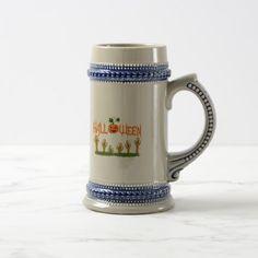 Halloween Beer Stein #halloween #holiday #drinkware #party #cups