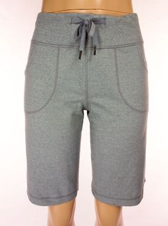 LULULEMON Still Shorts Size 6 S Small Gray Yoga Work Out Casual #Lululemon #Shorts