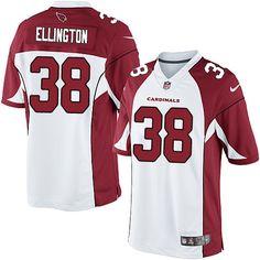 Limited Andre Ellington Mens Jersey - Arizona Cardinals 38 Road White Nike NFL