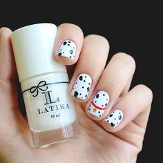 Nail art 101 dalmatians: http://omundodejess.com/2015/03/favoritos-da-semana-25/ | Jess Vieira