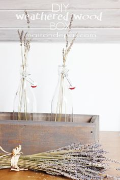 Diy Weathered Wood Box