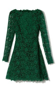 Long sleeve lace mini dress