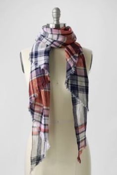Women's Plaid Bias Scarf from Lands' End