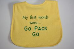 For my niece on Pinterest | Aunt, Baby Girl Dresses and Green Bay ...