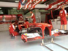 Ferrari-garage before FP3 - 2013 Malaysian GP