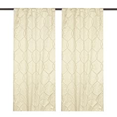 Ivory Amelia Curtain Panel Set, 84 in. ($35) ❤ liked on Polyvore featuring home, home decor, window treatments, curtains, ivory curtains, window panels, cream curtains, rod pocket panel and cream colored curtains