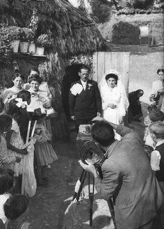 Rural wedding. Bogiati (today named Agios Stephanos), Attica, #Greece, 1950.