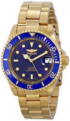 THE INVISIBLE CHEF 8930OB - Reloj para hombre, correa de acero inoxidable chapado en oro color dorado