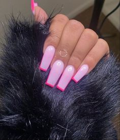 Acrylic Nails Coffin Pink, Short Square Acrylic Nails, Pink Nails, Edgy Nails, Square Nails, Swag Nails, Aycrlic Nails, Stylish Nails, Drip Nails