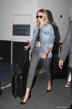 Work a tight-fitting pair with pumps and a denim jacket. Roll up the sleeves to achieve a more stylized loo...