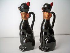 1950s Vintage Black Kitty Cat Oil and by VintageFindsbySuzi, $15.00