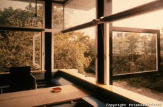 Gerrit Rietveld: Schroder House. Windows open in living/dining room area. All of windows swing open in this fashion.