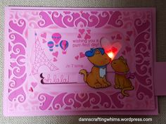 Newton's Nook Kissing Kitties Slider Card Lights Up with Chibitronics | D.Ann's Crafting Whims | Newton's Christmas Cuddles Stamp Set by Newton's Nook Designs #newtonsnook #handmade