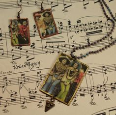 Urban Cowgirl  Best Girlfriends Gypsy Bomemian Handmade Jewelry Set Earring Necklace Set Picture Jewelry by UrbanGypsyIndy on Etsy