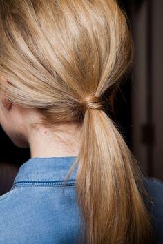 low ponytail