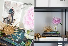 gold urchin DIY @Erin B @Erin @ houseofearnest with a great giveaway too