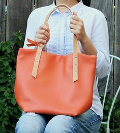 Ella Leather Tote by Flowie on Scoutmob Shoppe